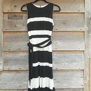 NWOT Lauren Ralph Lauren Dress Black White Sz 10